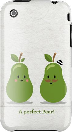 too cute pears iphone case