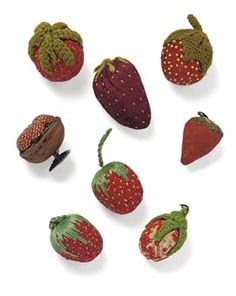 EARLY VICTORIAN STRAWBERRY PIN CUSHIONS CIRCA 1815-1840: