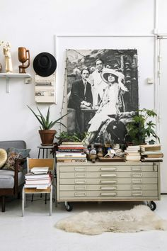 friday finds. Guest Room Office, Home Office Space, Ouvrages D'art, Swedish Cottage, San Francisco Girls, Flat Files, Old Post Office, Wood Vase, Wall Decor Pictures