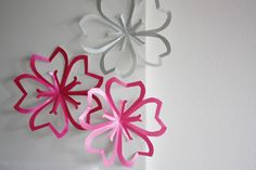 #DIY Paper Cherry Blossoms paper craft flowers