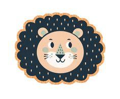 Mantel individual de corcho Lion, multicolor - 40x30 cm