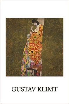 gustav klimt HOPE II vintage painting art poster COLLECTORS EXOTIC 24X36 hot