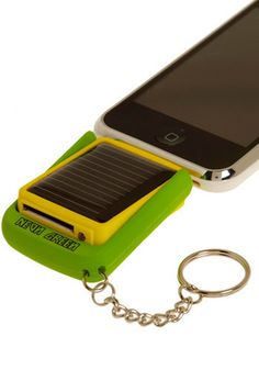 You've Got the Power Solar iPhone Charger on a key chain. WHAT!! $37.99 modcloth.