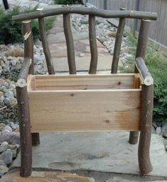 LOVE this planter bench idea for gardening!