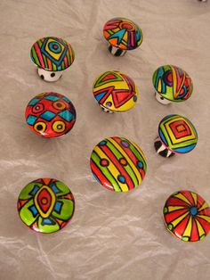 Whimsical Painted Furniture | DR SEUSS 2crazy 4U hand painted whimsical porcelain knobs handles 9