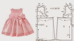 Moda e Dicas de Costura: VESTIDO DE CRIANÇA 3 A 4 ANOS COM MEDIDAS - 1:
