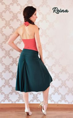 Reina Tango Skirt green with front slit