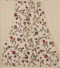 pocket, English, used in America, last quarter 18th century. MFA 98.1802a. 16.5 x 14.5 in