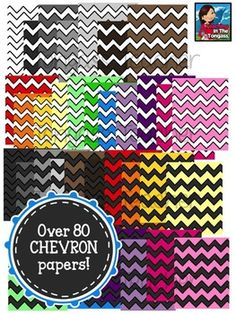Chevron Pattern Digital Papers