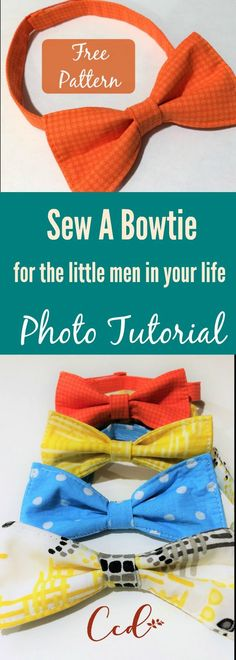Sew a bowtie | how to sew a bowtie | bowtie tutorial | sewing tutorial | bowtie photo tutorial | easy sewing project | sewing for beginners | mother's day | father's day | graduation