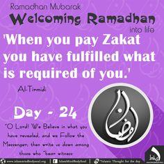 #welcoming #Ramadan #into #life #hadeeth #imbs #Islamic #allah #zakat #charity #fulfilled #day24 #tirmidi #messenger #witness #revealed
