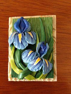 Bearded Irises Pin