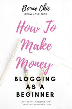 Learn how to make money blogging as a beginner. If you're a beginner looking to earn money blogging, this blog post tutorial is a must read. #blogging #bloggingforbeginners #learntoblog #startablog #blog #blogging101 #blogideas #moneymakingtips #bonnechic Make Blog, How To Start A Blog, How To Make, Make Money Blogging, Way To Make Money, Earn Money, Online Shops, Blogging For Beginners, Blog Tips