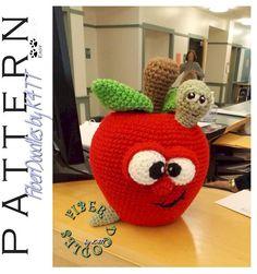 INSTANT DOWNLOAD : Adam the Apple Crochet Pattern