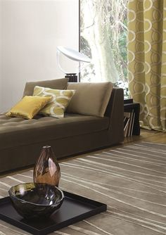 SINUS - Moving lines with a mat-glossy effect Sofa, Couch, Carpet Design, Area Rugs, Flooring, Interior Design, Canapes, Furniture, Collection