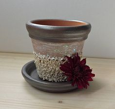 Hand Painted Clay Pot Painted Terracotta Pot Gravel Clay