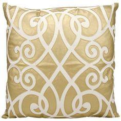 Golden touch sofa pillow, Leather Geo Throw Pillow - Nourison
