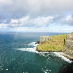 Rainbow over the Cliffs of Moher in Ireland