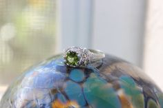 2 ct Peridot Opal Ring Stunning In Sterling by KimberlysTreasures Peridot Engagement Rings, Vintage Engagement Rings, Vintage Rings, Blue Opal Ring, Opal Rings, My Favorite Color, My Favorite Things, Jewelry Accessories, Unique Jewelry