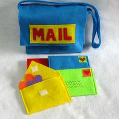 Mail Bag and Working Envelopes for Pretend Play