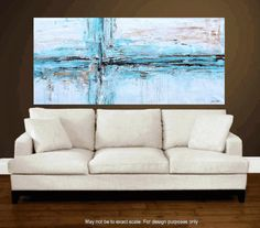 80 abstract  art painting large painting  by jolinaanthony on Etsy, $349.00
