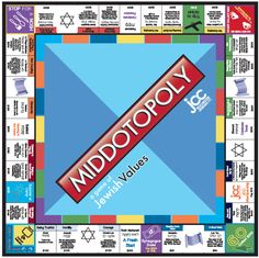 Middot-opoly Game Board (keep reading to download the full game!)