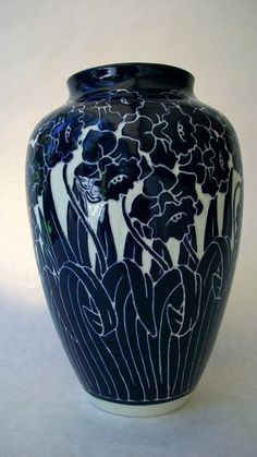Daffodil Vase Cobalt pottery