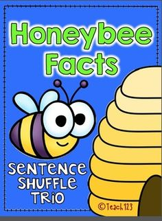 Information text, fluency, and writing Common Core Standards are incorporated in this Honeybee Facts Sentence Shuffle Center. It is on the 2nd grade reading level and is aligned with 1st, 2nd, and 3rd grade Common Core Standards.  paid