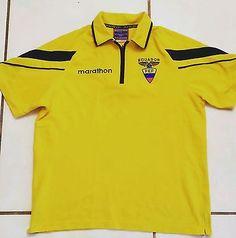 abf2ab78715 Rare MARATHON Ecuador National Team Soccer Polo Shirt Men's Small