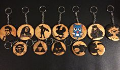 A personal favorite from my Etsy shop https://www.etsy.com/listing/270569610/woodburned-necklace-keychain-fandom-gift