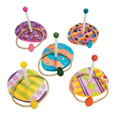 The Excellent Easter Egg Wooden Ring Toss Game is a fun party game to play around Easter. Five are the egg shaped wooden bases Easter Party Games, Easter Games For Kids, Easter Crafts For Toddlers, Crafts For Teens To Make, Easter Activities, Craft Party, Diy And Crafts, Easter Ideas, Easter Egg Hunt Games