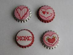 Valentine Bottle Magnets