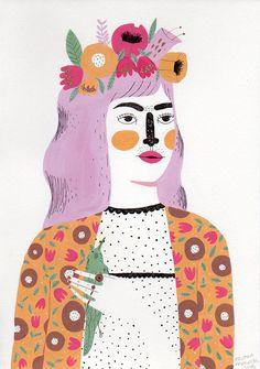 As ilustrações de Brunna Mancuso mostram a força feminina com formas geométricas…