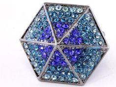 Hexagon Cocktail Stretch Ring R3 Blue Teal Recyclebabe Rings https://www.amazon.com/dp/B00FGFRUM0/ref=cm_sw_r_pi_dp_x_hFPBzb01VGZ2A