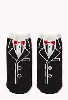 Tuxedo Ankle Socks | FOREVER 21 - 2074213374