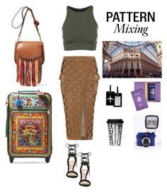 """TRAVEL"" by zeynepkartal on Polyvore featuring moda, Balmain, Onzie, Dolce&Gabbana, TravelSmith, Royce Leather, Dot & Bo, ALDO ve patternmixing"