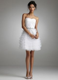David's Bridal Short Tiered Tulle Dress with Jeweled Waist Style 17305D, Ivory, 12 David's Bridal, http://www.amazon.com/dp/B005FOLCQW/ref=cm_sw_r_pi_dp_gh4Kpb05ZFNEC