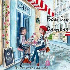 I Love Coffee, Coffee Art, Coffee Time, Art And Illustration, Design Illustrations, Fashion Illustrations, Paris Girl, Fine Art, Belle Photo