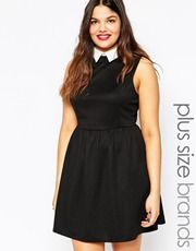 New Look Inspire Sleeveless Dress with Collar