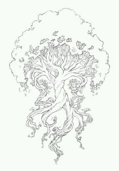 Nice sketch for a tree tattoo