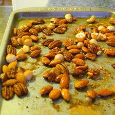 Whole30 snack-coconut roasted cinnamon nuts