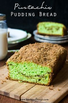 Pistachio Pudding Bread I Tastes of Lizzy T I