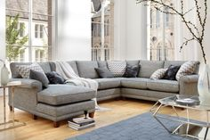 The Domus Haywood Corner Modular Sofa Range has a range of stylish sofa modules that can combined in a variety of configurations to create a chic corner sofa. Corner Sofa Living Room, Corner Couch, New Living Room, Interior Design Living Room, Living Room Decor, Corner Sectional, Bedroom Corner, Sectional Sofa, U Shaped Sofa