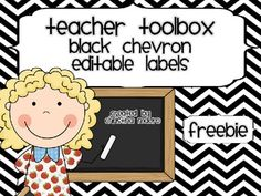 Here is a wonderful FREEBIE for you! It's an editable black chevron label set for your teacher's toolbox. Classroom Labels, Classroom Organisation, Teacher Organization, Classroom Themes, Red Classroom, Organizing School, Organized Teacher, Classroom Freebies, Classroom Environment