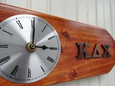 Kappa Delta Chi Inc. Autumn Blaze Paddle Clock....Perfect gift for the Latina Sorority Woman. Can customize for any fraternity or sorority.