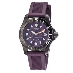 Victorinox Swiss Army Men's 241558 'Dive Master' Purple Dial Purple Rubber Strap Watch