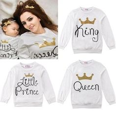 Family Matching Outfits Parent-Child Baby Kid Parents Family Letter Printed T-Shirt Summer Short Sleeve Matching Sweaters, Matching Shirts, Matching Family Outfits, Summer Shorts, Graphic Sweatshirt, T Shirt, Toddler Outfits, Shirt Style, Long Sleeve Tops