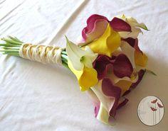 Ramo de novia/wedding bouquets  Calas tricolor