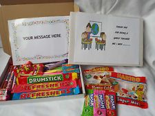 Retro Sweets Gift Box Teacher/Assistant FREE personalisation  (45 sweets)