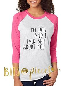My Cats and I Talk Shit About You Raglan 3//4 Short Sleeve T-Shirts Girls Boys